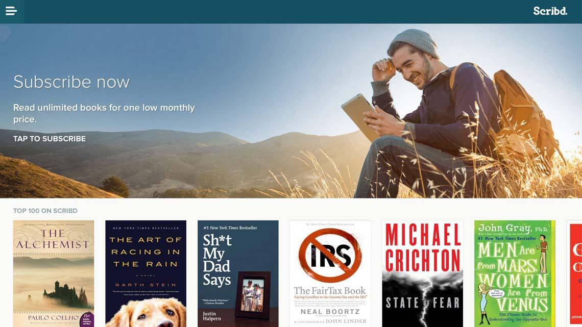 اسکریبد کتابخانهای برای کتاب الکترونیکی و کتاب صوتی
